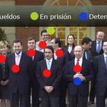 Mientras el PP juega al y tú más los exministros están en prisión, detenidos o han cobrando sobresueldos. #L6Nrato http://t.co/I9DAZ9rUae