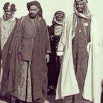 الملك عبد العزيز وحاكم الأحواز خزعل الكعبي بالبصرة عام 1917. #عاصفة_الحزم تجدد التاريخ. #مؤتمر_النضال_الأحوازي_لاهاي http://t.co/r40ZrAzab0