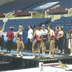 Alabama warming up vault where the Tide starts tonights Super 6 #RollTide http://t.co/m5uLEyr0qh