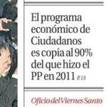 Ciudadanos «copia» el programa económico del PP de 2011 http://t.co/npkTrHhwGD #L6Ncallerivera http://t.co/Fdz9jo2Bm3