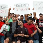 Brownsville Rivera fans celebrate the Raiders winning the 6A boys #UILstate title. http://t.co/eLvtefxwq3