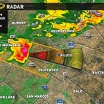 This storm is capable of 60 mph winds & up to golf ball size hail. Anyone outdoors should take cover now! #atxwx http://t.co/39I9gAhF0B