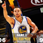 Dubs lead the series, 1-0. #StrengthInNumbers http://t.co/tgpCut6QMq