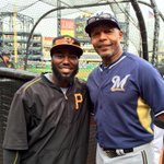 .@jhay_da_man talks with his uncle, @Brewers coach John Shelby, during BP. http://t.co/8fnvbaAMJA