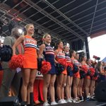 Its been a great A-Day! We just finished doing a few cheers downtown at The Corner Block Party! #WarEagle http://t.co/q0wLz1cNKk