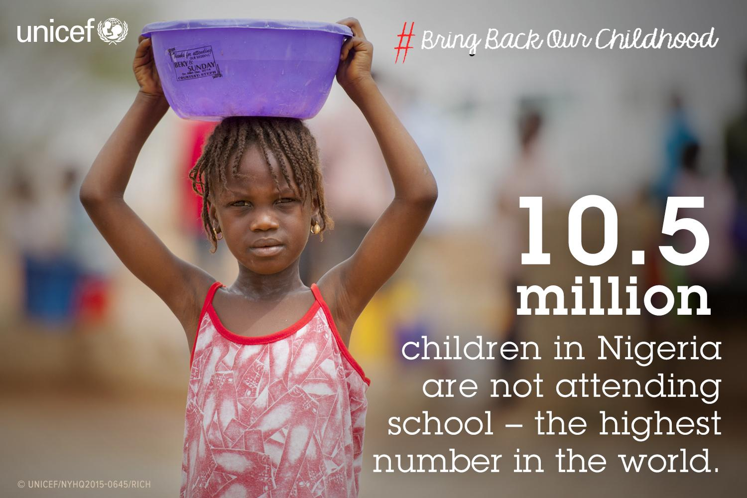 A shocking number - and nearly 60% of #outofschool children live in north of #Nigeria. #BringBackOurChildhood http://t.co/rqNhQGygcs