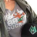 Reppin the #present & #future @Bucks #Game1 #Playoffs2015 http://t.co/TIKWpCnogE
