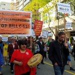 #Vancouver march 2 #KillBillC51 powerful drumming & chanting! #BillC51 #C51 #vanpoli #bcpoli #cdnpoli #yvr @CBCCanada http://t.co/I2F8frjDd8