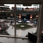 The in-field evacuation has begun at Globe Life Park #PartyForACause #ACMawards50 http://t.co/HQoOmgt3f9