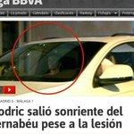 Modric salió del Bernabéu con una sonrisa. ¿Buenas noticias? http://t.co/5ykUiW0cKI