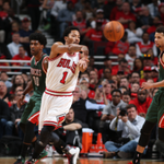 Rose (12 pts) & Butler (17 pts) power the @chicagobulls to the 60-51 halftime lead vs. @Bucks on @espn. #BULLSvBUCKS http://t.co/GukAVveJPp