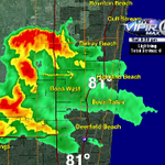 South County about to get the lawn watered. Heavy downpours moving into Delray-Boca. #flwx http://t.co/iHKxVTkbEi