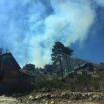 Crews wet down some Summerhaven homes as fire burns nearby http://t.co/hukZ8cTwfv http://t.co/wrGZkov4jO