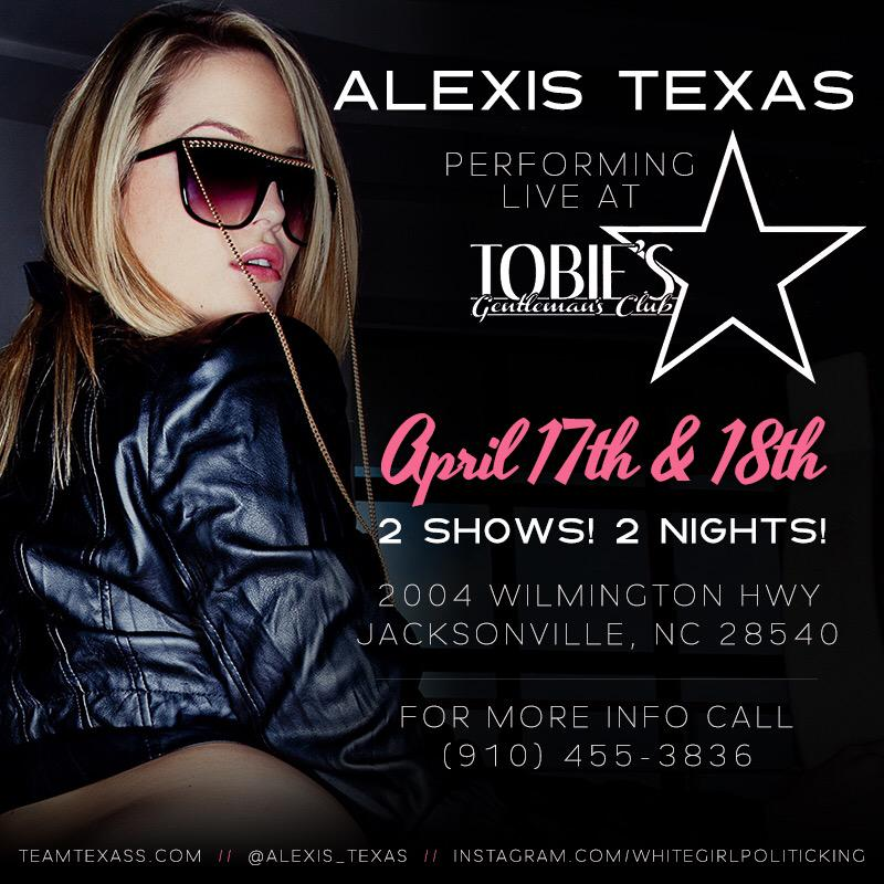 Last night in Jacksonville, NC? who's coming out to see my big booty at Tobies 2 shows only #teamtexass