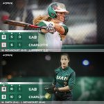 RECAP: UAB Softball Splits Saturday Doubleheader at Charlotte | http://t.co/RvdCFylw5o #GoBlazers http://t.co/QI2MBZ5yb0