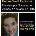 RT Bettina salió ayer las 7pm a la Fybeca de la 6 de Dic. y Colón UIO. No llevó celular. Solo 10usd. No ha vuelto. http://t.co/GsrezJpd5B