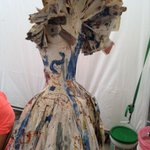 Ingrids paper dress at the Stillwater Arts Festival #SMAC @MultiArts_ http://t.co/3hJypk5cz5