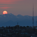 It was a beautiful / fiery sunset over Queen Anne Hill today. #seattle http://t.co/yZfTcQ4tIl