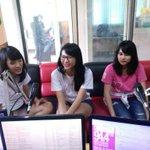 [PHOTO] Stay tune di @dradiolampung siaran bareng @shaniaJKT48 @bebyJKT48 & @M_GraceJKT48 !! http://t.co/HUO2sw9Mnu