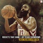 The Houston Rockets beat the Dallas Mavericks 118-108 to take Game 1! http://t.co/8tULbH9fSV