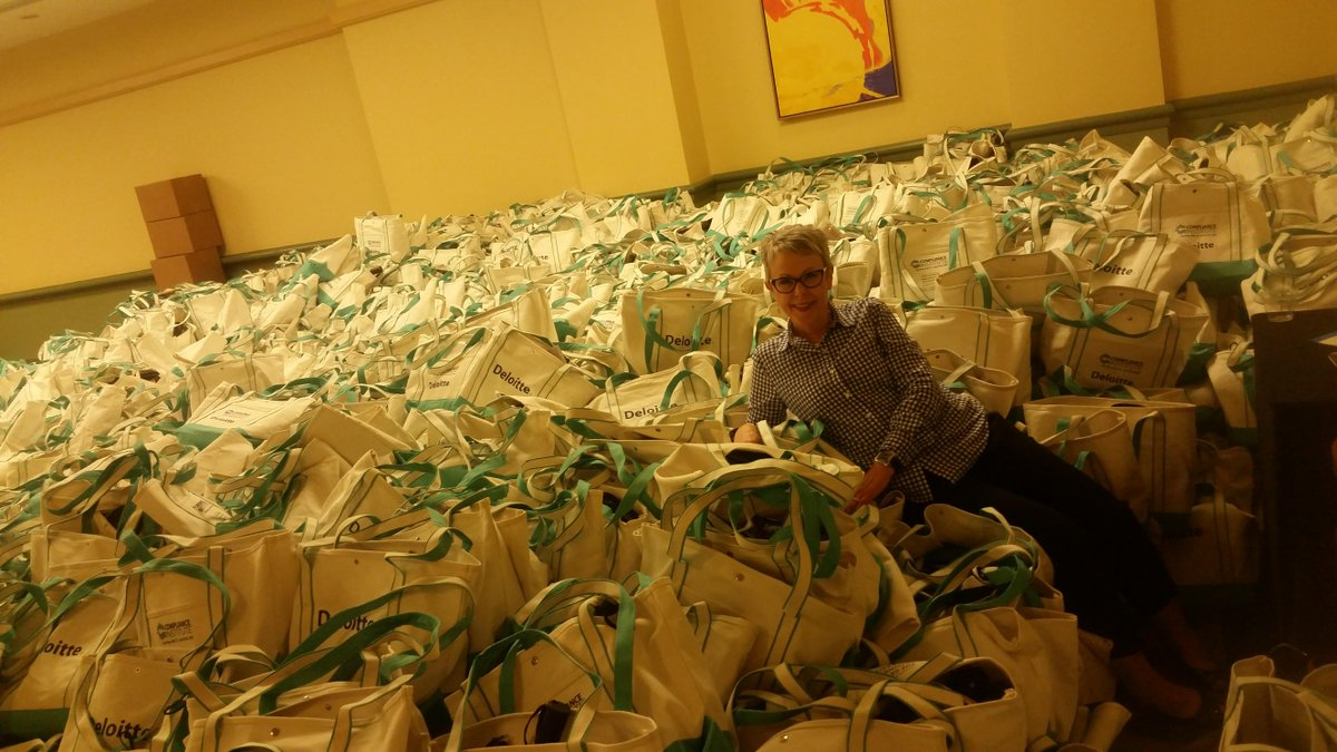 This year's swag bags for all 2900+ #HCCAci attendees! http://t.co/va7VREbogi