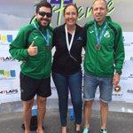 Nuestra secretaria @MaliciaWildpret con nuestros campeones del @coftenerife Nacho y Dani en la meta @SCextreme2015 http://t.co/SQxZTBPBnn
