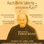 RT @actorprepares: After 2 back2back housful acts @AnupamPkher gears for a #Hattrick with his play of #Kucchbhihosaktahai 2night :-) http:/…
