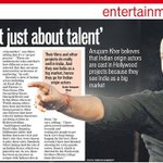 RT @SammySamarth: 'West see India as a big market, hence they go for Indian origin actors', says @AnupamPkher @htcity http://t.co/Rz4xVA0sXC