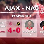#Matchfact: @DavyKlaassen was vorig seizoen met een hattrick de gevierde man in het thuisduel met NAC. #ajanac http://t.co/cGu2fLnAjH