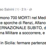 Basta ipocrisie: occorre fermare partenze, morti e #invasione!  #Salvini #Lega @matteosalvinimi http://t.co/6j3XbdVcC7