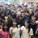 Terimakasih Wota Lampung ^-^ . Terimakasih @officialJKT48 udah dateng ke @dradiolampung sukses bersama @HITSRec http://t.co/HVAUEVAwEN
