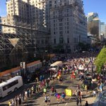 Heres a view of the @VancouverSunRun start line from the Hyatt Regency! #Vancouver http://t.co/Tn2NFNd2rG