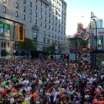 The streets of Vancouver are busy today! RT @VancouverSunRun: RT @tarajcarman: Happy @VancouverSunRun! http://t.co/ZFKV9Vj1DD