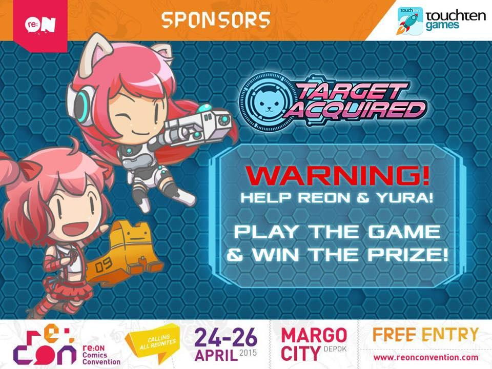 Any plan this weekend? No? Visit @TouchtenGames booth at @reoncomics' re:CON at Margo City Depok on April 24-26! :D http://t.co/SyDRnmdHf2