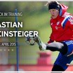 Das sieht doch gut aus :) @BSchweinsteiger ist heute beim @FCBayern ins Mannschaftstraining zurückgekehrt... http://t.co/Wqmc3vTufV