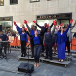 Vy Higginsen's Teen Choir of Harlem performing on the #TODAYplaza this morning!