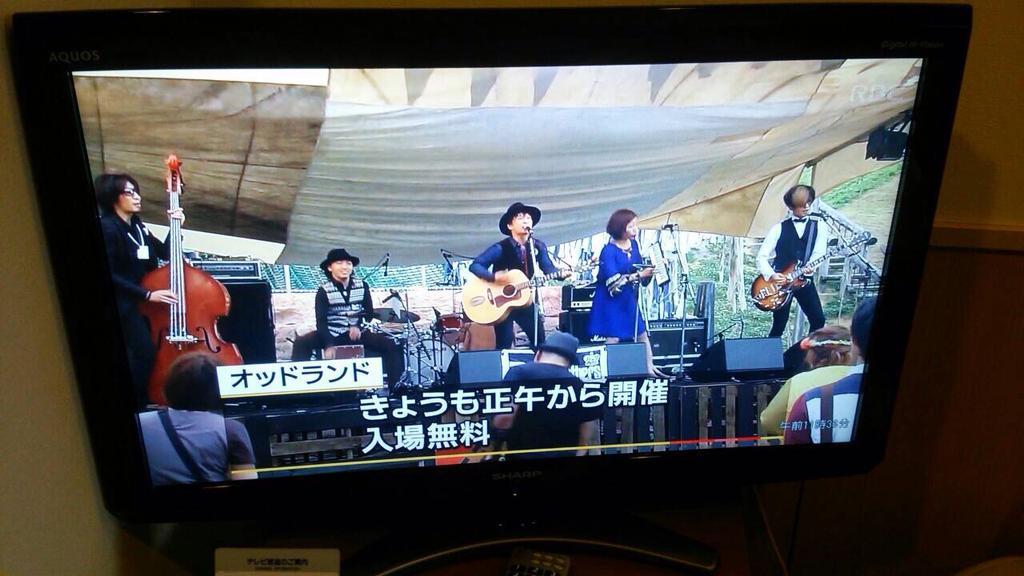 NHKにてODD LAND1日目の様子が流れて、東京ゴッドファーザーズが!! http://t.co/9SMhfbcPnc