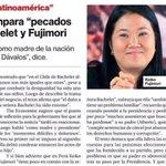 The Economist compara pecado de la familia Fujimori con lo de la Fam. Bachelet y habla del nepotismo en Latinoamérica http://t.co/Wm89yW3Ef9