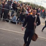 THE BOSS: Mr Dickov arriving for the game. Boots and a bag full of mischievous energy? #drfc http://t.co/qiC2DM8D38