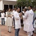 Smt.Sonia Gandhi,Shri Rahul Gandhi and Smt.Priyanka Gandhi interacting with farmer representatives from Amethi today http://t.co/yEwYOV2as5