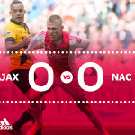 Ajax - NAC Breda eindigt doelpuntloos. #ajanac http://t.co/NxSrgh8ktV