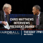 My one-on-one with President Obama - this Tuesday on @hardball at 7PM et. Dont miss it! http://t.co/IAA0MUrCdi