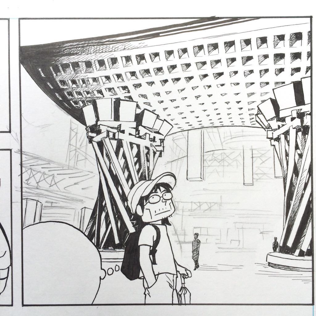 """江口さんがマンガ描くから雪降るんですよ。""""@Eguchinn: 金沢駅くそめんどい。あとはパソコンの中で描くよ。正直日記文庫版の描きおろし漫画、ペン入れ完了しました。 http://t.co/SbFSUALAA7"""""""
