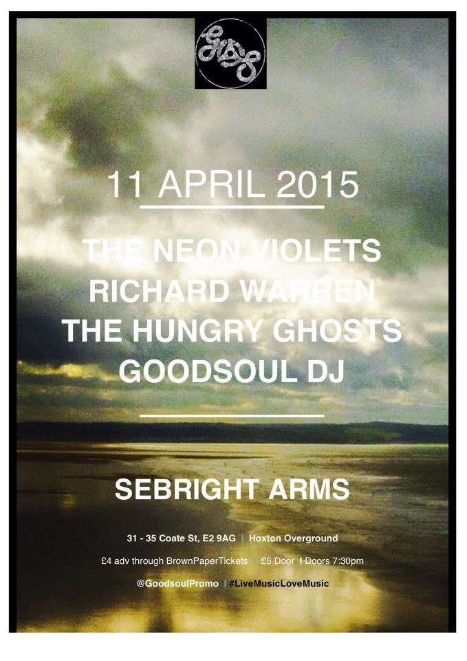 This Saturday at the @SebrightArms it's psych n blues with: @theneonviolets  #RichardWarren @iamahungryghost   RT! X http://t.co/o3F3Vyza2c