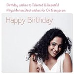 Happy birthday to Talented & Beautiful actress Nitya Menen.Eagerly waiting for