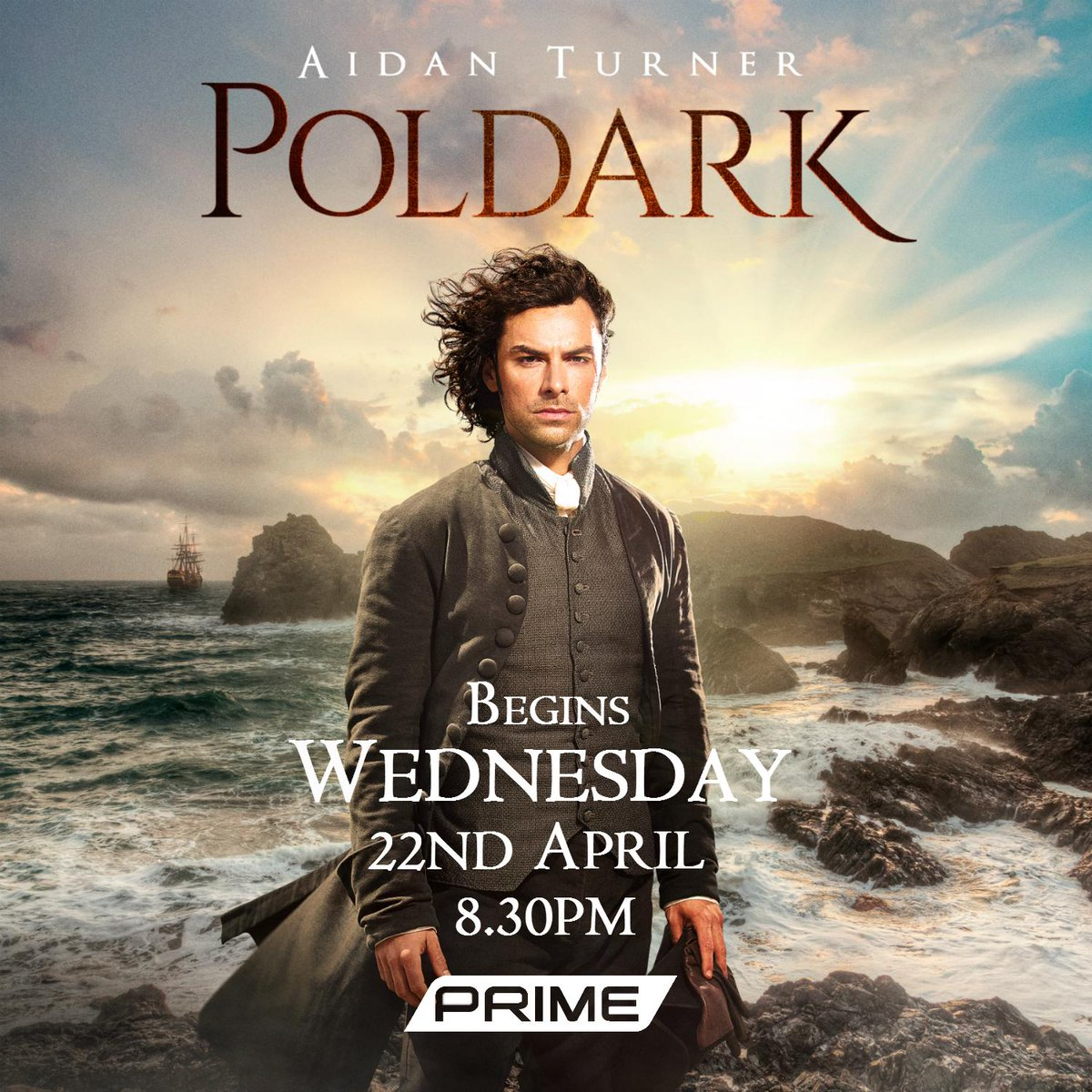 Epic new saga #Poldark begins in NZ from Wed April 22nd, 8.30pm on @Primetv_NZ! @PoldarkTV @AidanTurner http://t.co/J43ft3sJO4