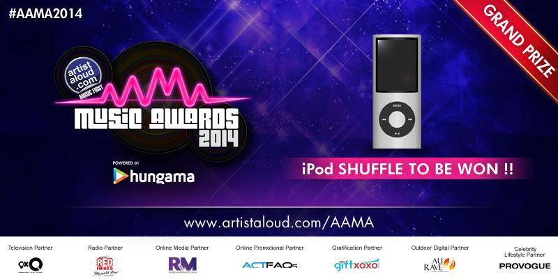 iPod Nano, 50 flipkart vouchers & autographed merchandise! This can't get bigger! #AAMA2014 http://t.co/QPkeSBAKF7