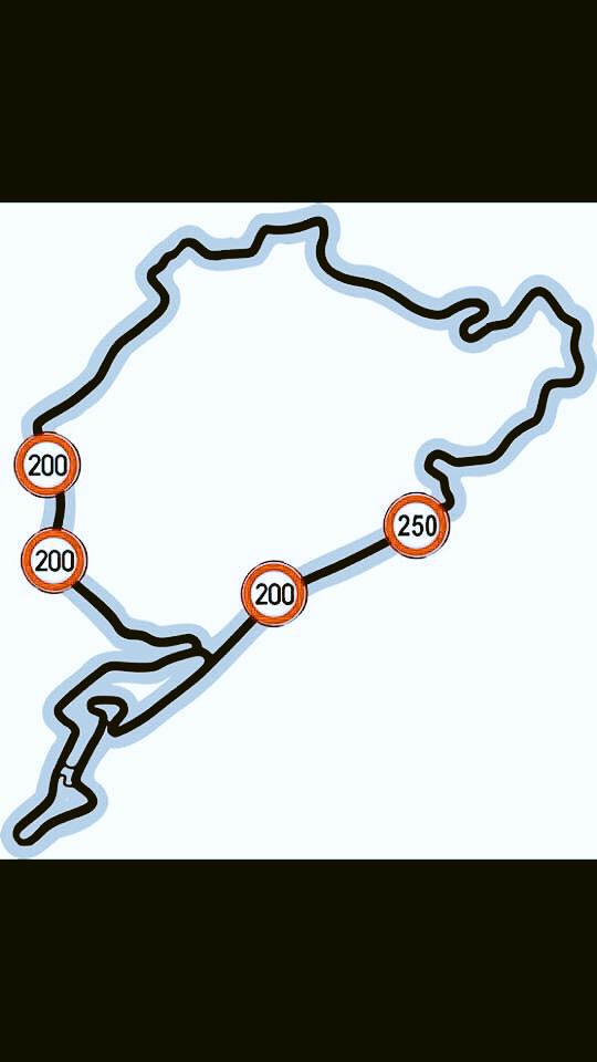 This are the speed limits for the Nordschleife for now. #keepyoureyesontheroad http://t.co/uKMIPtPhNu