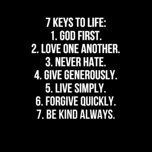 7 Keys To Life #GodIsNumberOne #LoveYourNeighbor http://t.co/XtbcAMlMJU