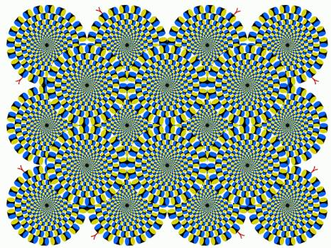 Which way are these circles moving? Do they look like snakes? #illusion #fun http://t.co/SAtaeJ9N90